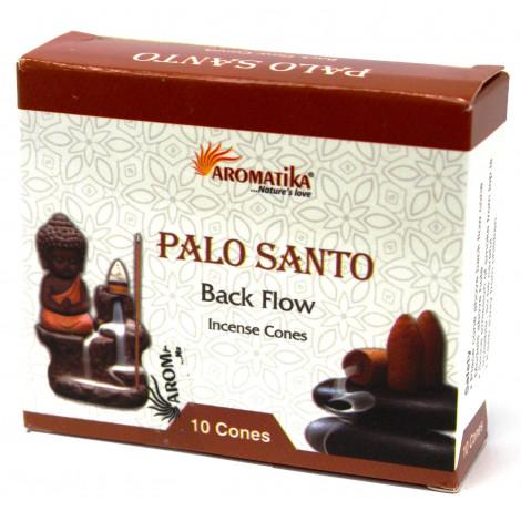 Kadzidełka Stożkowe Black Flow - PALO SANTO 10 szt