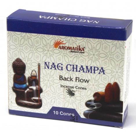 Kadzidełka Stożkowe Black Flow - NAG CHAMPA 10 szt