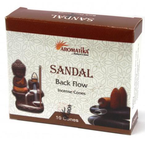 Kadzidełka Stożkowe Backflow - SANDAL 10 szt