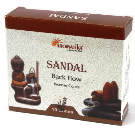 Kadzidełka Stożkowe Black Flow - SANDAL 10 szt