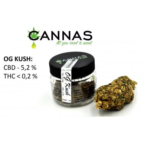 Susz Konopny CBD 5,2% OG KUSH - 2 gramy