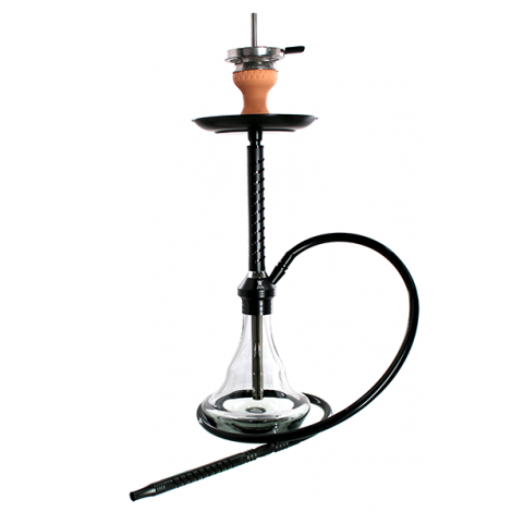 KAYA SHISHA ELOX SLICE - Medium Black 60cm