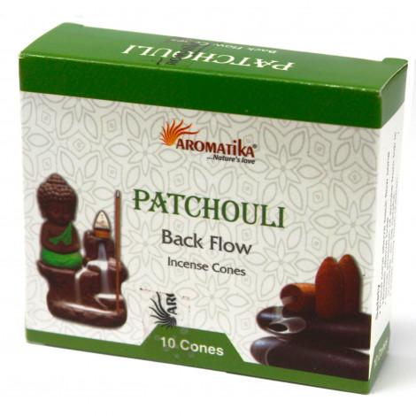 Kadzidełka Stożkowe Black Flow - PATCHOULI 10 szt