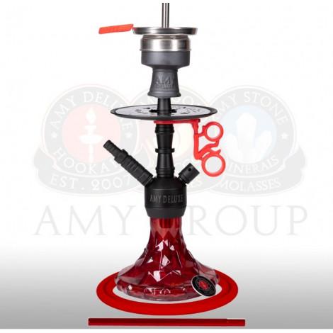 AMY Shisha 107.03 - Alu Brilli Red - 38cm