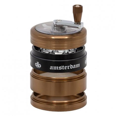 Młynek do Tytoniu Grace Glass Amsterdam z korbką - kawowy