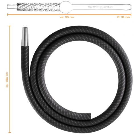 Wąż do Shishy + Ustnik - KAYA Carbon Arctic 150cm