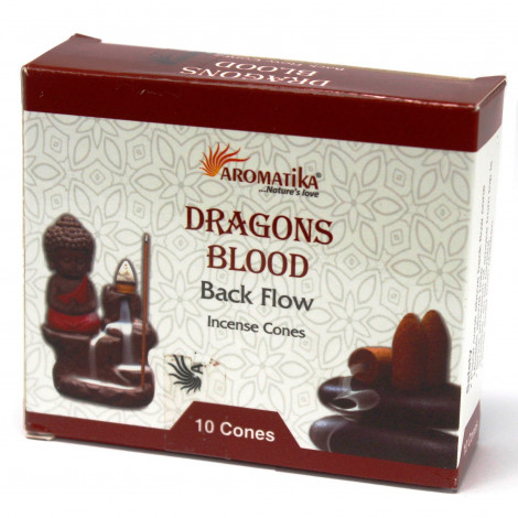 Kadzidełka Stożkowe Black Flow - DRAGON'S BLOOD 10 szt