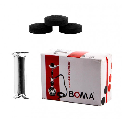 Węgielki do Shishy - Samorozpalające BOMA 40mm 1 Karton