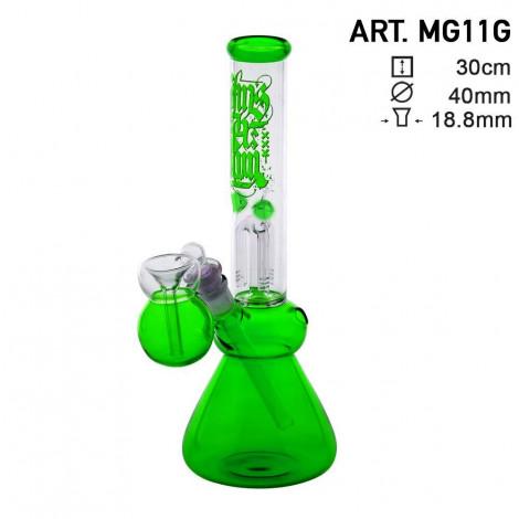 Bongo z Dyfuzorem + Nasadka Filtracyjna! - Fluo Green Amsterdam 30cm (MG11G)