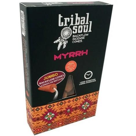 Kadzidełka Stożkowe Tribal Soul Black Flow - MYRRH 10 szt