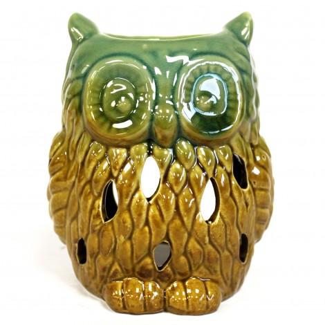 Kominek Do Olejków Ceramiczny Own - Brązowo - Zielony