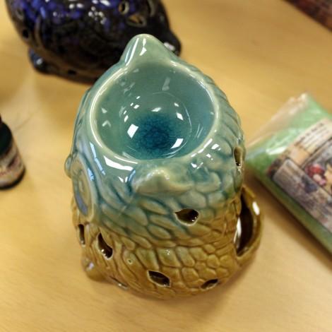 Kominek Do Olejków Ceramiczny Own - Brązowo - Biały