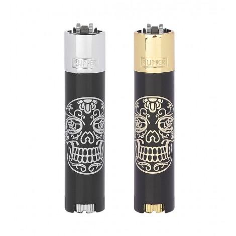 Zapalniczka Clipper Metal - Mexican Skulls