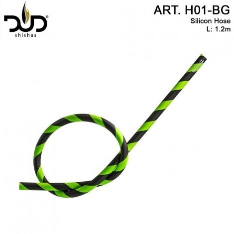 Wąż do Shishy DUD Silikonowy - Green 120cm