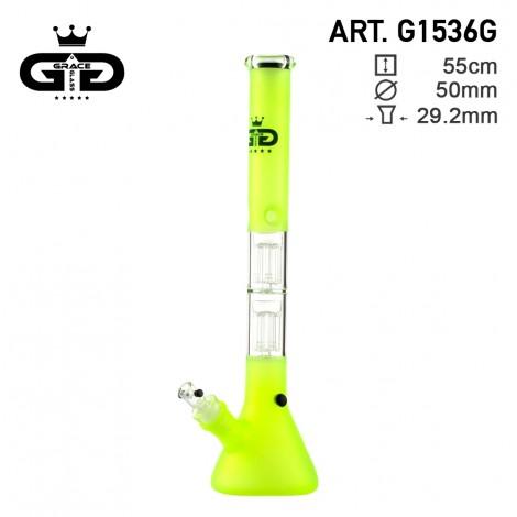 Bongo z Dyfuzorem GG - Big Beaker Fluo Green 53cm