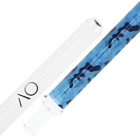 Szklany Ustnik do Shishy - AO Camo Urban Blue