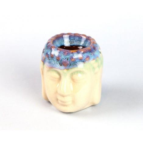 Kominek Do Olejków Ceramiczny Głowa Buddy - Kremowy