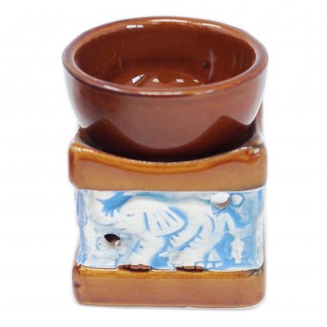 Kominek Do Olejków Ceramiczny ELEPHANT - Brązowy