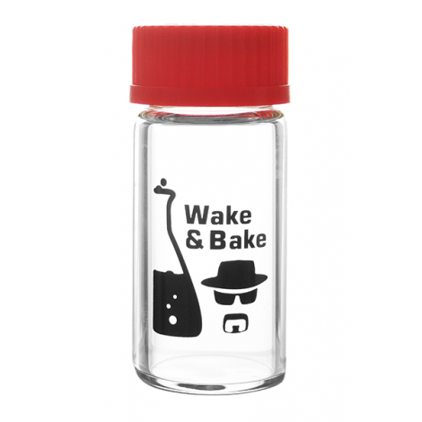 Szklany Pojemnik na Weed HEISENBERG - Wake & Bake