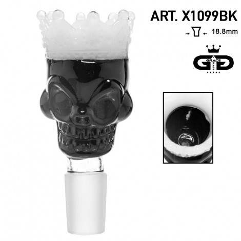 Cybuch do Bonga Grace Glass - Skull King 18,8mm