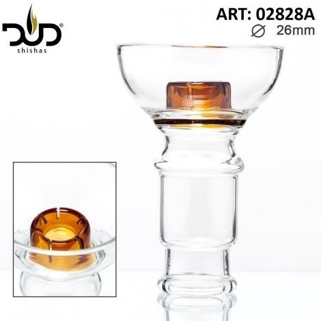 Szklany Cybuch do Shishy DUD - Hookah Glass Bowl Amber