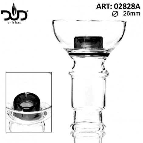 Szklany Cybuch do Shishy DUD - Hookah Glass Bowl Czarny