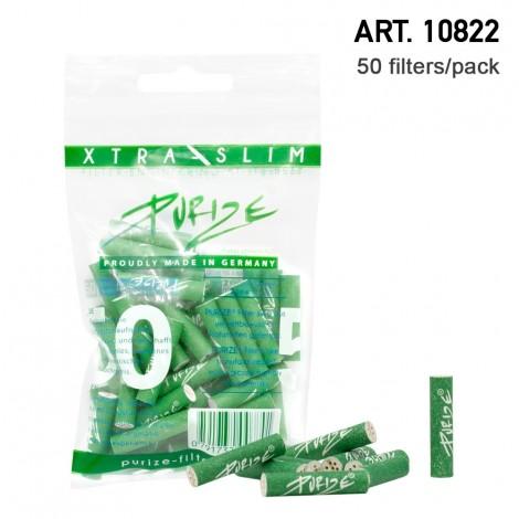 Aktywne filtry węglowe PURIZE XTRA SLIM GREEN - 50szt