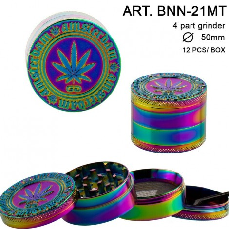 Młynek do tytoniu Grace Glass Amsterdam - Rainbow