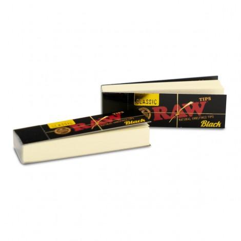 Filterki RAW - Black Classic Tips 50 szt.