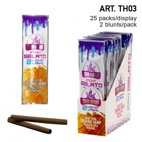 True Hemp Organic Wraps 2 szt. - Sticky Gelato