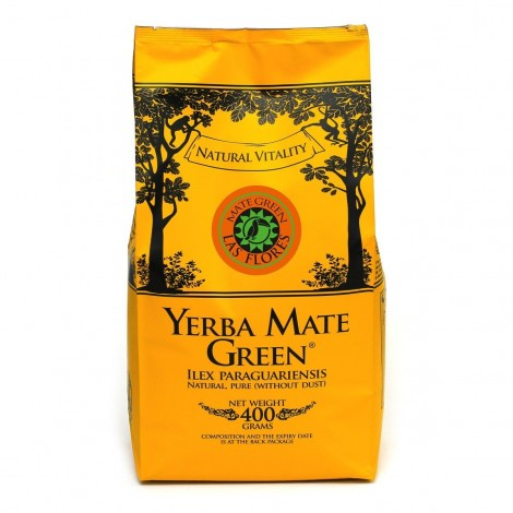Yerba Mate Green LAS FLORES - 400 g.