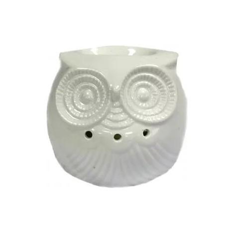 Kominek Do Olejków Ceramiczny Owl - Biały