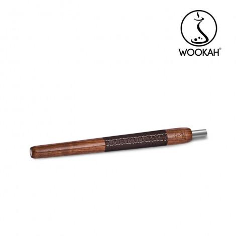 Ustnik do Shishy WOOKAH - Walnut (orzech)/Skóra 28 cm