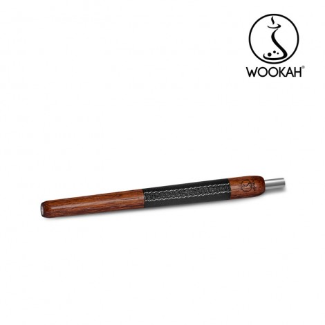 Ustnik do Shishy WOOKAH - Merbau/Skóra 28 cm