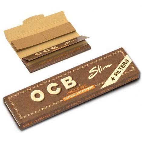 Bibułki OCB Slim + Filterki - Virgin Paper 32 szt.