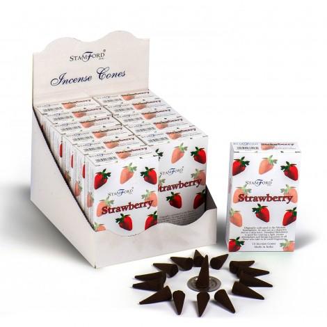 Kadzidełka Stożkowe STAMFORD - Strawberry
