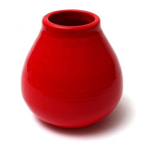 Matero Ceramiczne Pera Czerwone - 250 ml