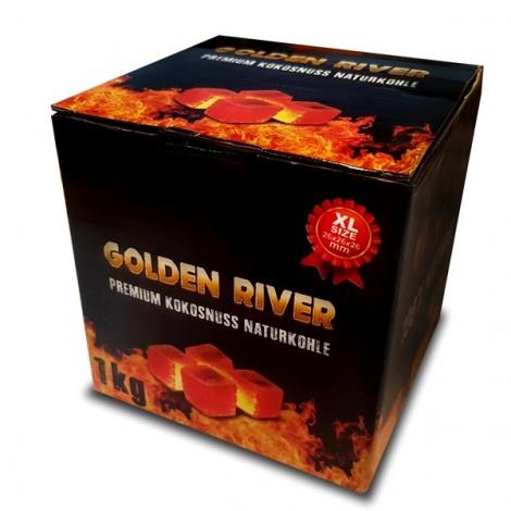 Węgiel do Shishy Kokosowy - GOLDEN RIVER 1Kg
