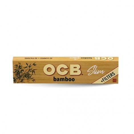 Bibułki OCB Slim + Filterki - BAMBOO