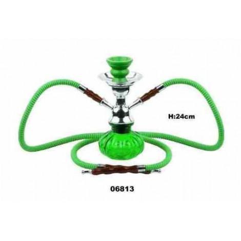 Shisha Pączek 2 węże -  24 cm zielona