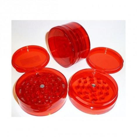 Młynek Akrylowy Duży 3 części 6x4cm - Czerwony