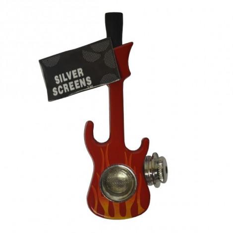 Lufka Gitara + Sitka - Czerwona 10cm