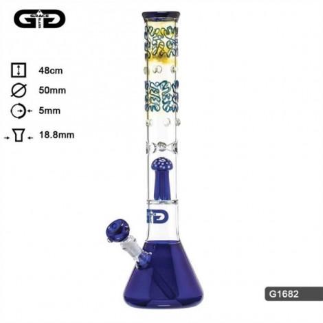 Bongo z Dyfuzorem GG -  Mushroom Niebieski 48cm
