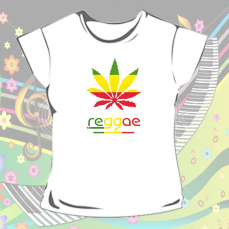 Koszulka Reggae Biała - Damska
