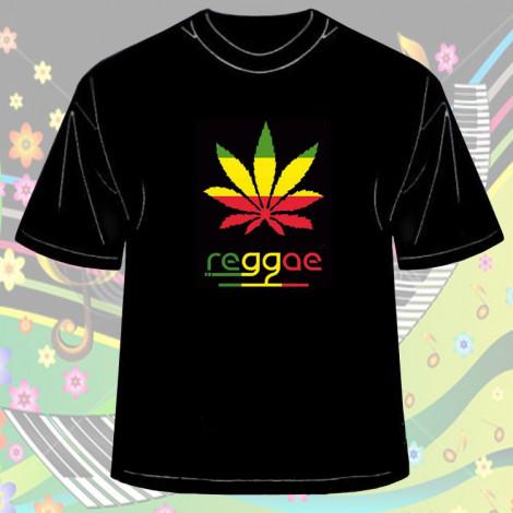 Koszulka Reggae Czarna - Męska