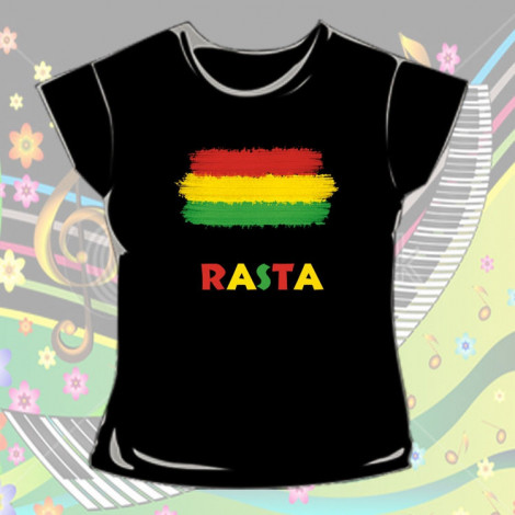Koszulka Rasta Czarna - Damska