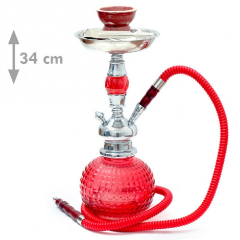 Shisha Oasis Nabila -  35cm Czerwona