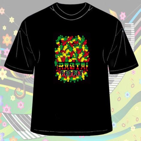 Koszulka Rasta People Czarna - Męska