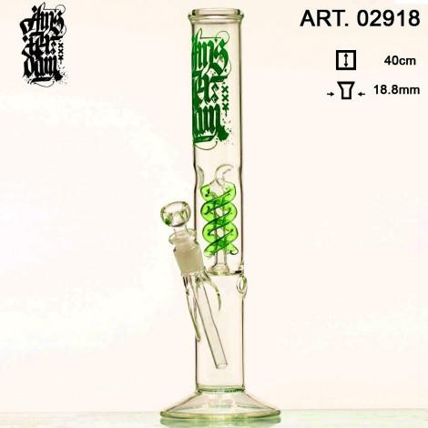 Bongo z Dyfuzorem -  Green Spiral L 37cm