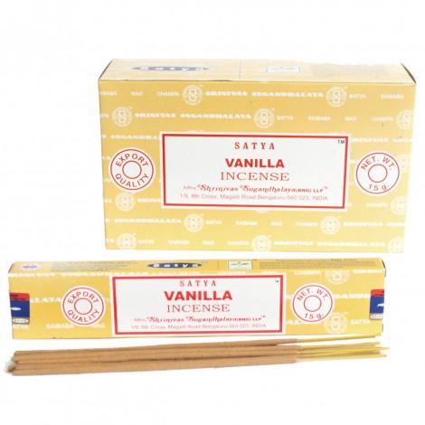 Kadzidełka SATYA -  Vanilla (Wanilia) 15g